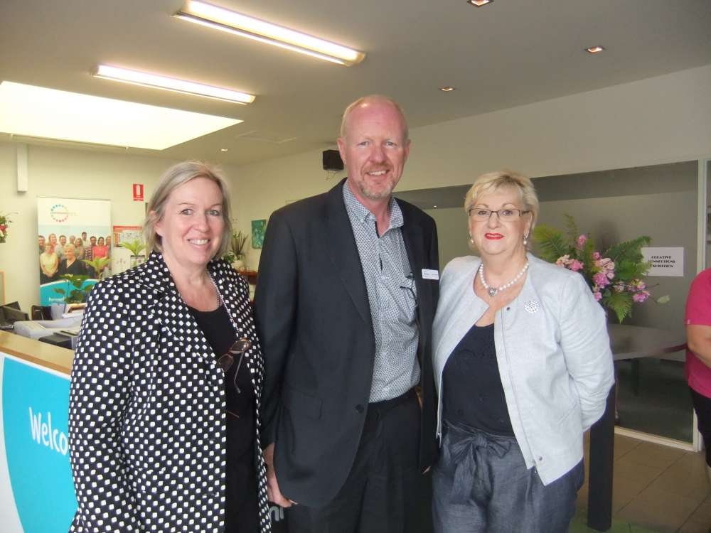 Our Ex Board Chair Fred together with CEO Wendy and guest Senator Helen Polley