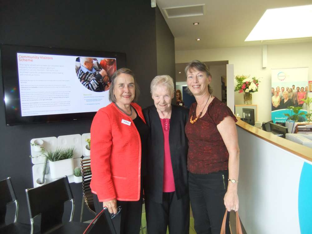 Community Care TASMANIA'S support worker, clients and volunteers together