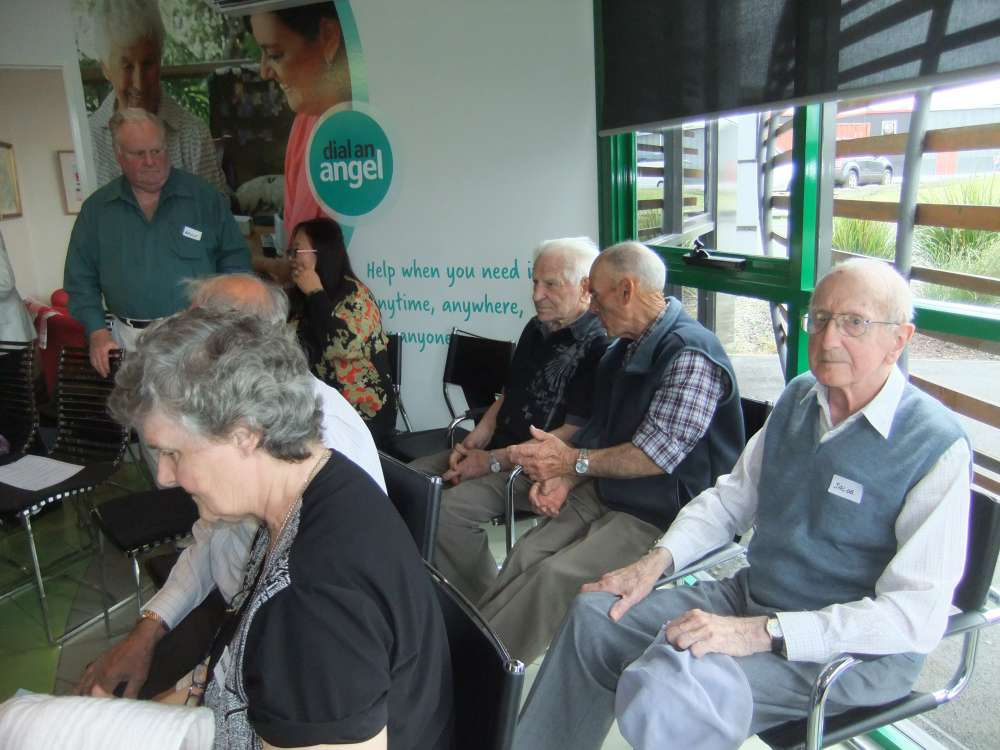Clients and their families in the new CommunIty Care TASMANIA centre