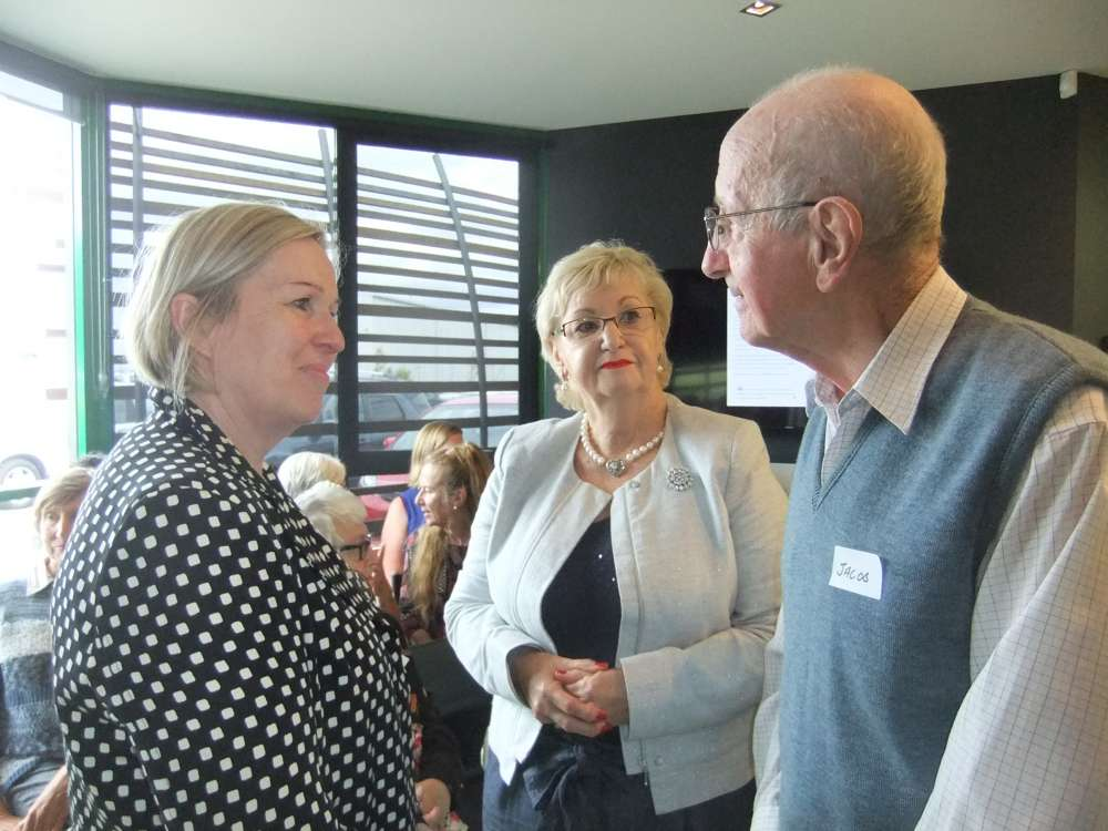 General Manager Wendy with guest Senator Helen Polley chatting to our client Jacob